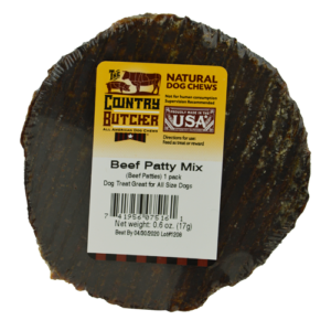 Beef Patty Mix Treat for Dogs 100 percent USA sourced and raised dog treats and chews